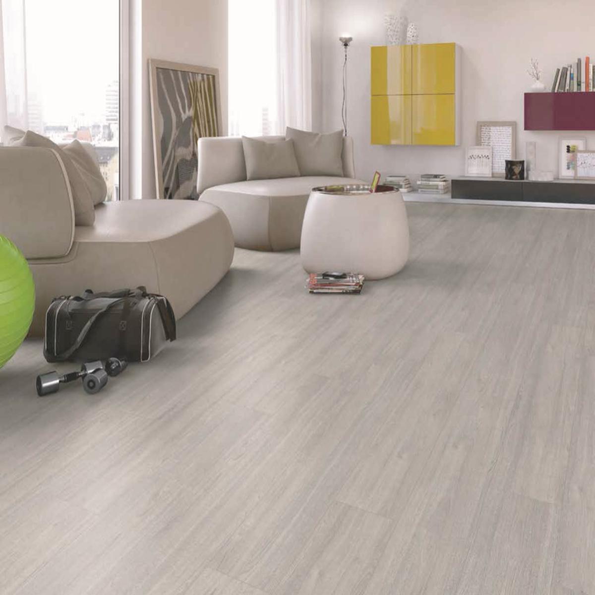 Egger Basic Light Grey Charlotte Oak, Oak Light Grey Laminate Flooring