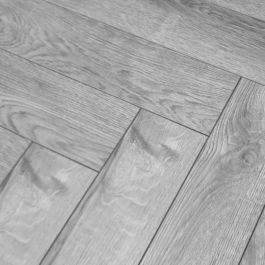 Grey Laminate Flooring 12mm Vinatge Herringbone