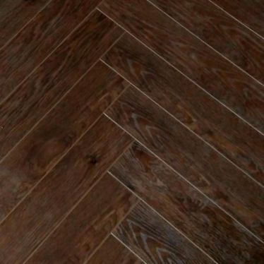 Vintage herringbone Chocolate walnut 12mm laminate flooring