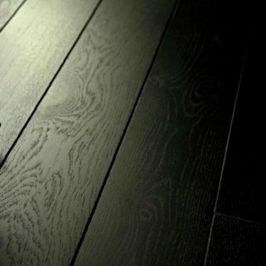 Vintage pure black 8mm v groove laminate flooring