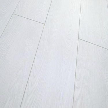 Vintage Pure White laminate flooring 12mm V groove
