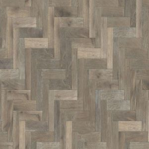 Herringbone smoked brushed white oiled 18mm solid wood flooring