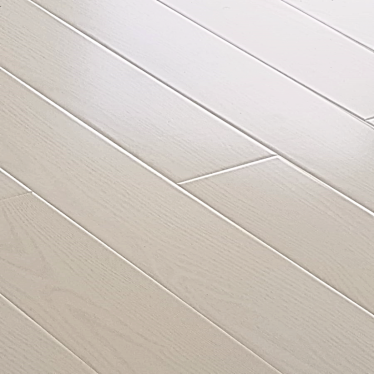Vintage White Narrow Oak 8mm Gloss Laminate Flooring