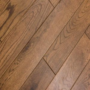 Golden oak brushed lacquered 18mm solid wood flooring