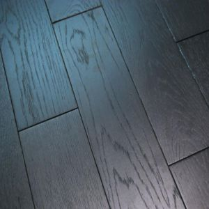 Black Washed Brushed Matt Lacquered Engineered Wood Flooring