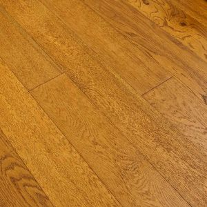 Golden Oak Brushed Lacquered Engineered Wood Flooring 120 wide