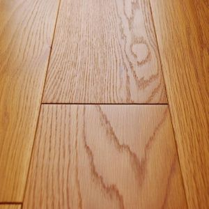 Natural oak rustic brushed lacquered engineered wood flooring