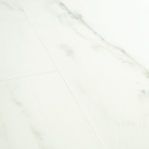 Quick Step: marble carrara white Livyn Ambient Click Luxury Vinyl Flooring Tiles LVT - AMCL40136