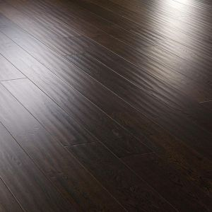 Oak antique hand scraped lacquered engineered wood flooring