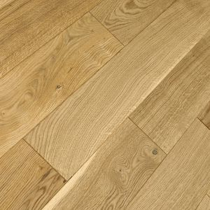 Natural oak 150 mm wide brushed and oiled solid wood flooring