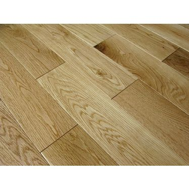 Natural oak lacquered 18mm solid wood flooring